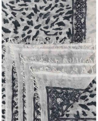 Sybille BWB leopard speck adorned scarf HEMISPHERE