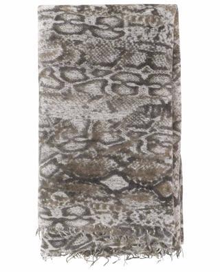 Snake-CL snale print knit scarf HEMISPHERE