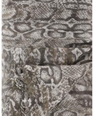 Écharpe en maille imprimée serpent Snake-CL HEMISPHERE