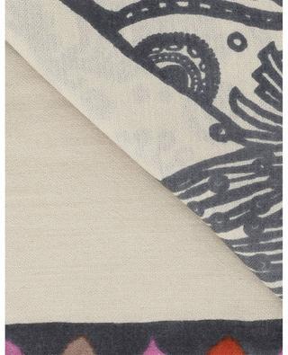 Sumbo square shawl with elephant print HEMISPHERE