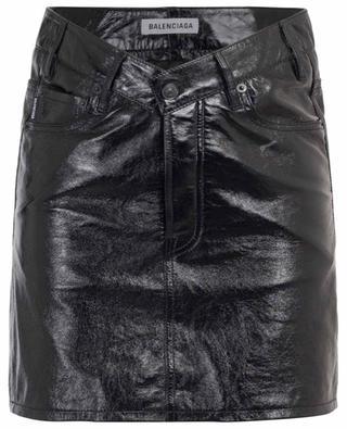 Shiny nappa leather mini skirt BALENCIAGA