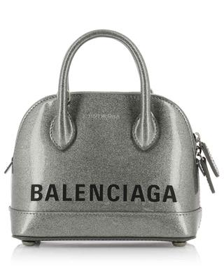 Ville XXS varnished glitter leather shoulder bag BALENCIAGA