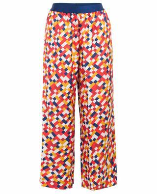 Bungalow wide-leg mosaic print silk trousers ERES
