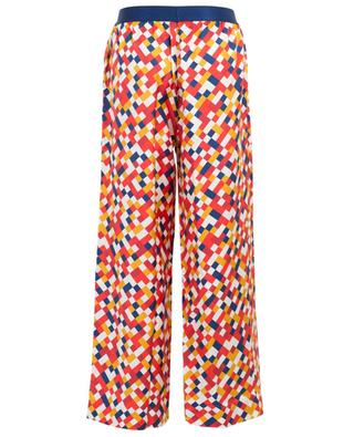 Bungalow wide-leg mosaic print silk trousers ERES