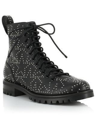 Cruz Flat star studded leather combat boots JIMMY CHOO