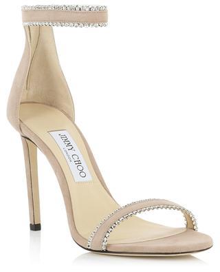 Dochas 100 crystal embellished suede sandals JIMMY CHOO