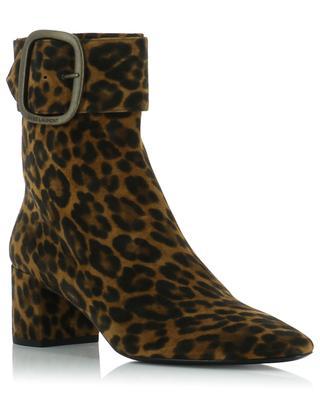 Bottines léopard à talon Joplin 50 SAINT LAURENT PARIS