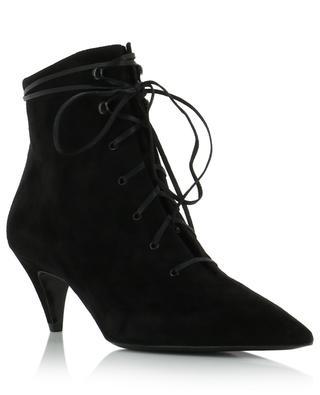Kiki 55 suede lace-up ankle boots SAINT LAURENT PARIS