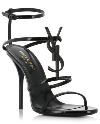Cassandra 110 YSL heeled patent leather sandals SAINT LAURENT PARIS