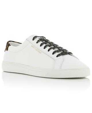 Andy SL low-top sneakers with leopard pony leather SAINT LAURENT PARIS