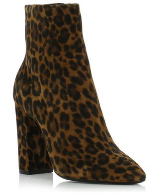 Bottines en daim léopard Lou 100 SAINT LAURENT PARIS