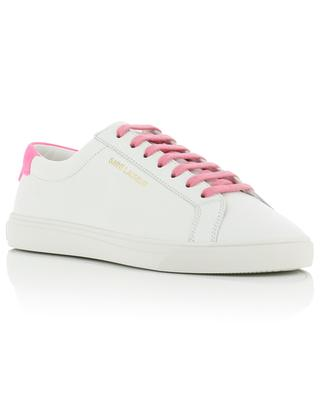 Andy SL grained leather sneakers with neon detail SAINT LAURENT PARIS