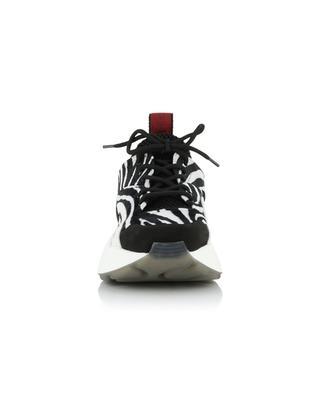 Baskets à lacets en velours imprimé zèbre Eclypse STELLA MCCARTNEY