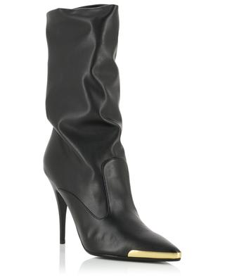Heeled faux leather boots with pointy tips STELLA MCCARTNEY