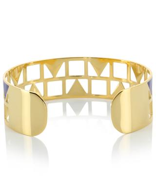 Golden cuff with triangle and square IKITA