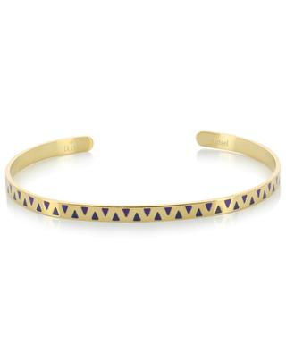 Triangle pattern golden bangle IKITA