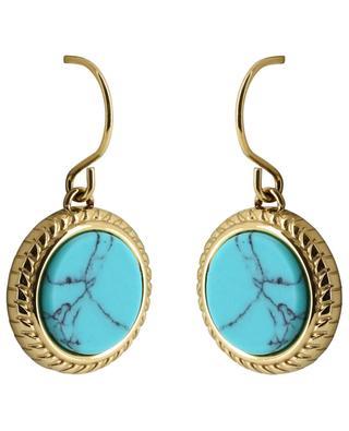 Hook earrings with semi-precious stones IKITA