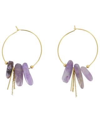Hoop earrings with semi-precious stones IKITA