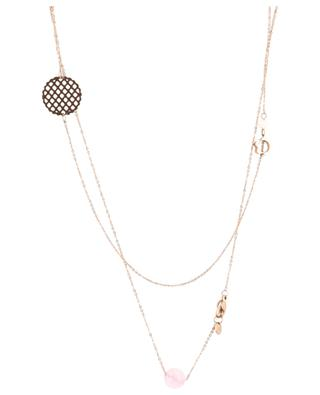 Long steel and stone necklace IKITA
