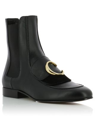 Chloé C flat smooth leather ankle boots CHLOE