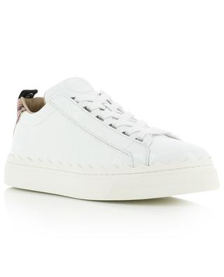 Sneakers aus Leder in Kroko-Optik Lauren CHLOE