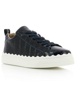Lauren croc effect leather sneakers CHLOE