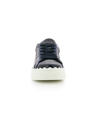 Sneakers aus Leder in Kroko-Optik Lauren CHLOE