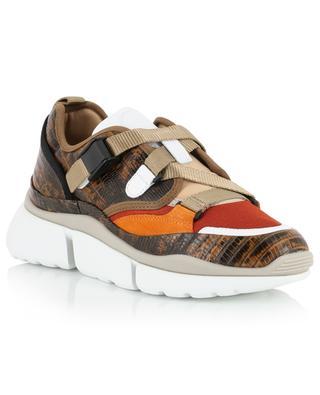 Sonnie lizard effect leather low-top sneakers CHLOE