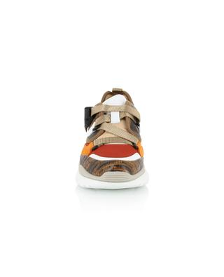 Niedrige Sneakers aus Leder in Eidechsenoptik Sonnie CHLOE