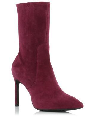 Wren 95 heeled stretch suede ankle boots STUART WEITZMAN