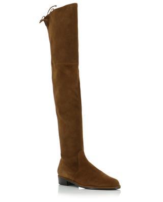 Flache Overknee-Stiefel aus Wildleder Lowland STUART WEITZMAN
