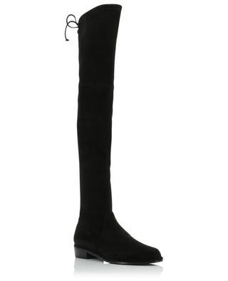 Lowland flat over-the-knee boots in suede STUART WEITZMAN