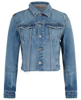 Jeansjacke mit ausgefransten Säumen Cara London Calling GRLFRND