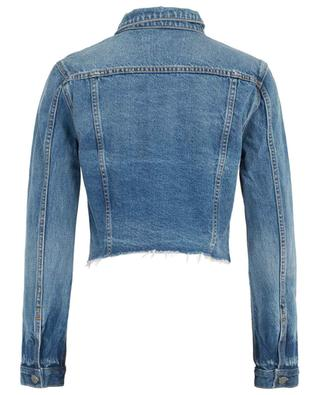 Cara London Calling jeans jacket with raw edges GRLFRND