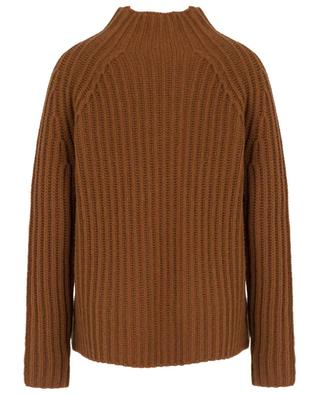 Rib knit cashmere jumper with mock collar FTC CASHMERE