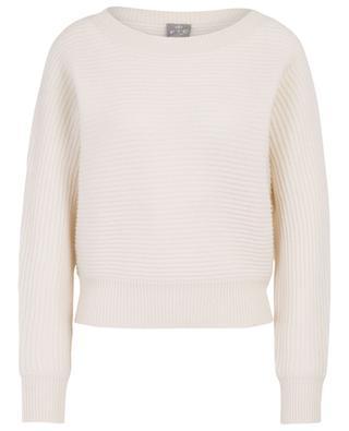Round neck cashmere rib knit jumper FTC CASHMERE