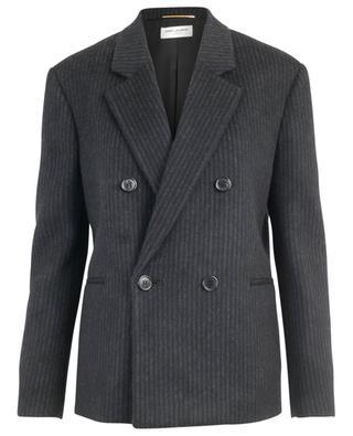 Blazer rayé oversize en laine et cachemire SAINT LAURENT PARIS