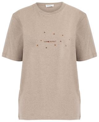 T-shirt en jersey imprimé étoiles dorées Saint Laurent SAINT LAURENT PARIS