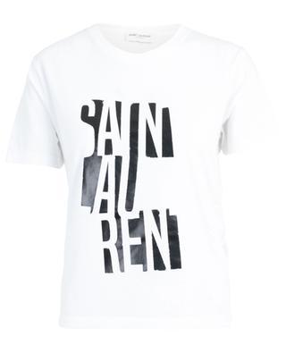 T-Shirt aus Jersey mit Print Saint Laurent Poster SAINT LAURENT PARIS