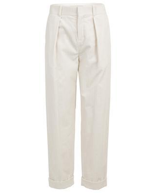 Corduroy trousers with turn-ups SAINT LAURENT PARIS