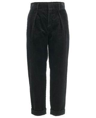 Pantalon en velours côtelé à revers SAINT LAURENT PARIS