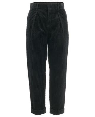 Corduroy trousers with turn-ups SAINT LAURENT PARIS