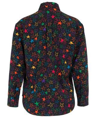 Seidenhemd mit buntem Sternprint SAINT LAURENT PARIS