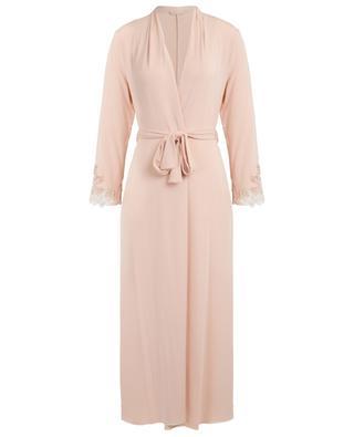 Longue robe de chambre en jersey ornée de dentelle Rimmel PALADINI
