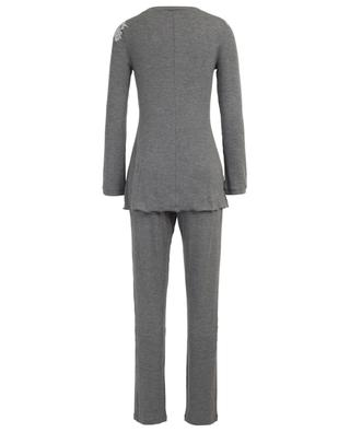Gerippter Pyjama mit Spitze Sugar PALADINI