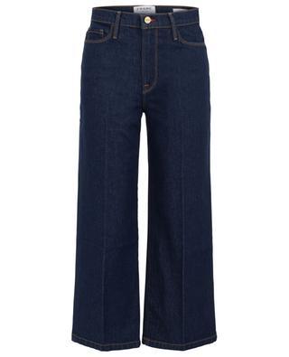 Dunkle Jeans mit hoher Taille und weitem Bein Ali Wide Crop Vintage Rinse FRAME