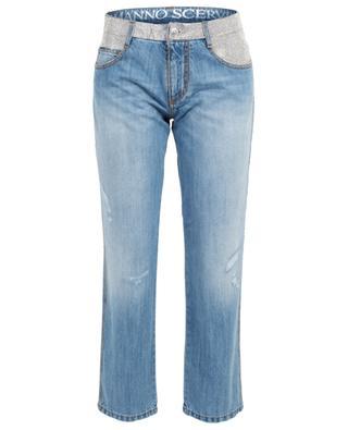 Gerade Jeans mit Kristallen ERMANNO SCERVINO
