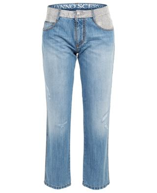 Straight fit jeans with crystals ERMANNO SCERVINO