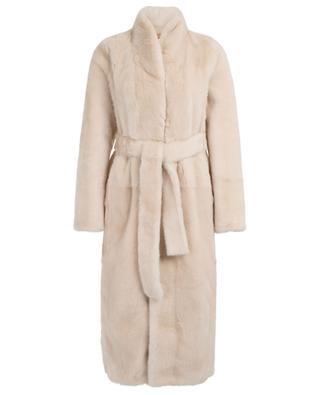 Meringue mink fur and lamb shearling coat YVES SALOMON