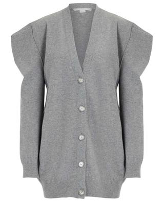 Boiled wool cardigan with square shoulders STELLA MCCARTNEY